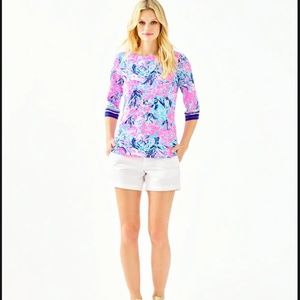 Lilly Pulitzer WAVERLY TOP periwinkle purple